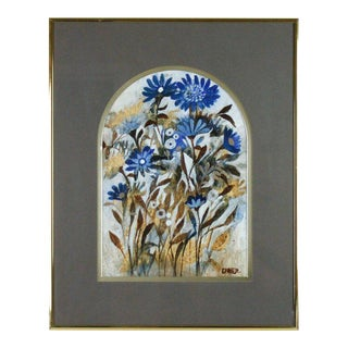 Mid-Century Modern Floral Painting