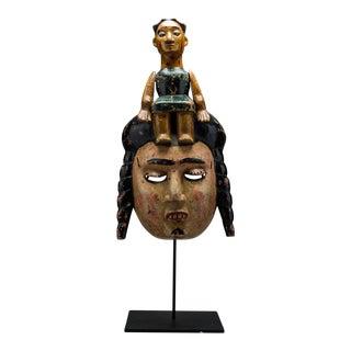 Ibibio Colonial Polychrome Dance Mask