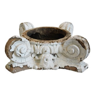 Antique Ornate Terracotta Architectural Column Capital For Sale