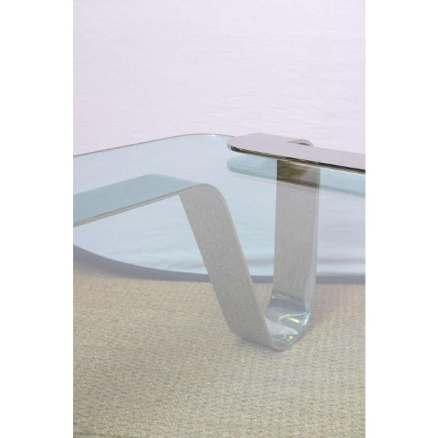"""Silver Rare and Sculptural Gary Gutterman """"Odyssey"""" Coffee Table in Polished Steel For Sale - Image 8 of 10"""