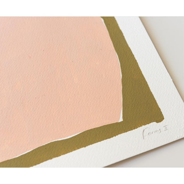 Contemporary Minimalist Abstract Gouache Painting For Sale - Image 4 of 5