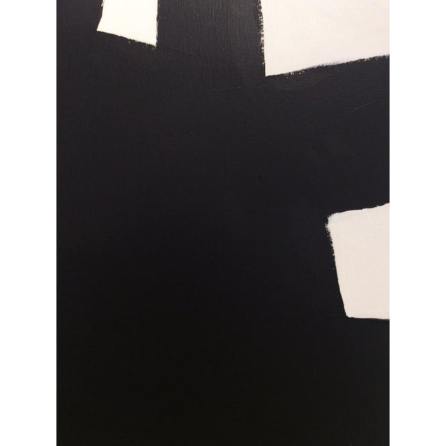 "Abstract Kathi Blinn ""Eiffel"" Contemporary Black and White Acrylic Painting For Sale - Image 3 of 5"