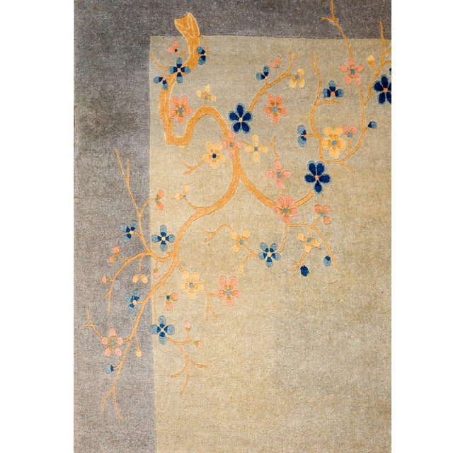 1920s Serene Chinese Art Deco Rug For Sale - Image 5 of 9