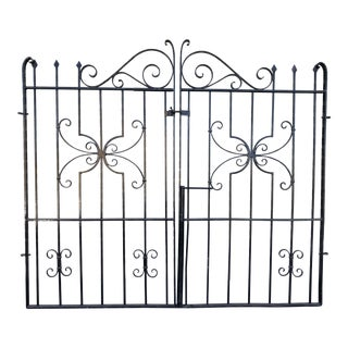 Amazing Butterfly Iron Driveway Gates - a Pair For Sale