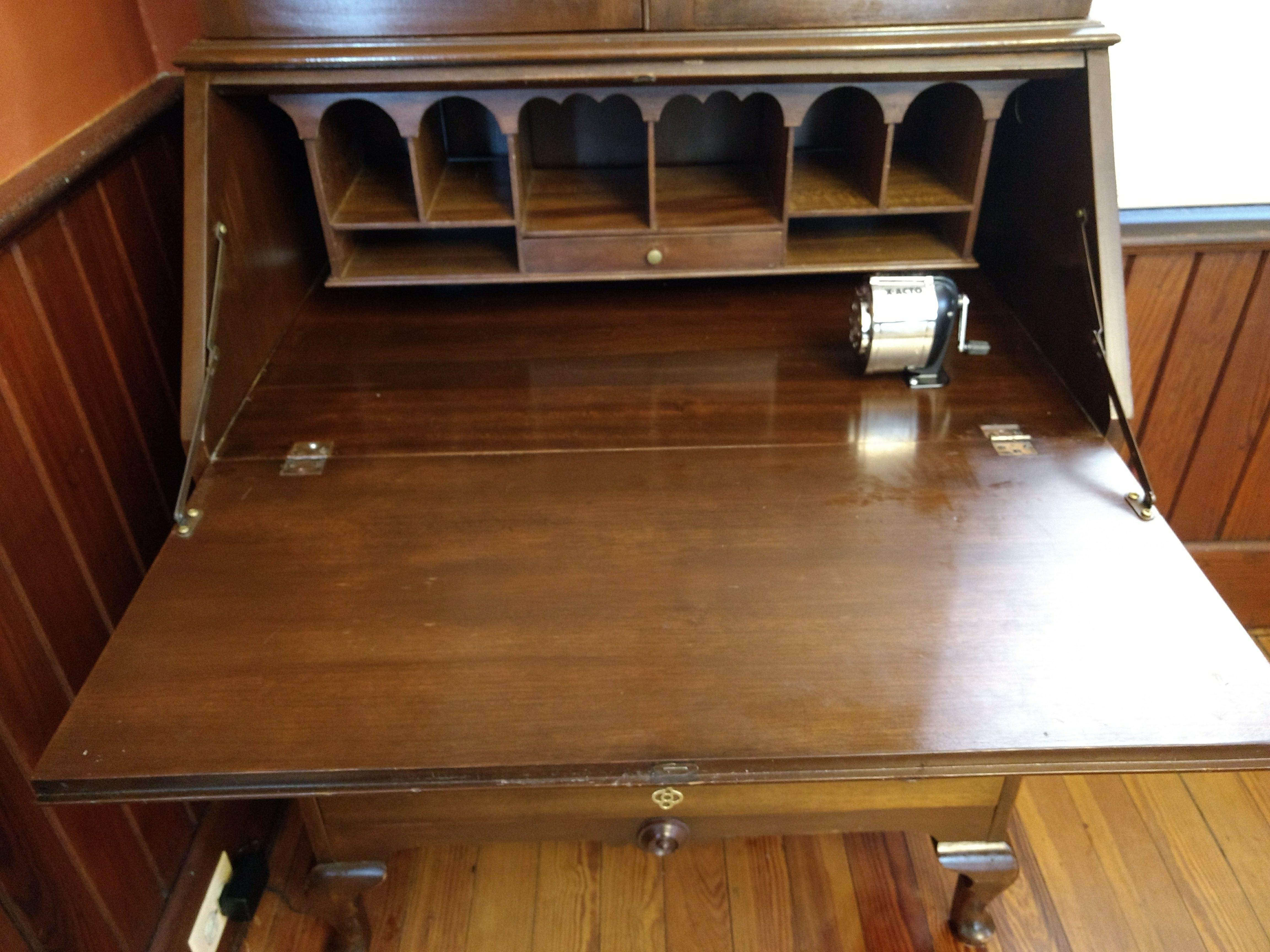 Illinois Rockford Cabinet Antique Secretary Desk   Image 6 Of 13