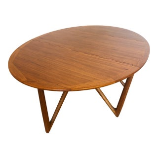 Koefoed Hornslet Danish Teak Gate Leg Dining Table For Sale