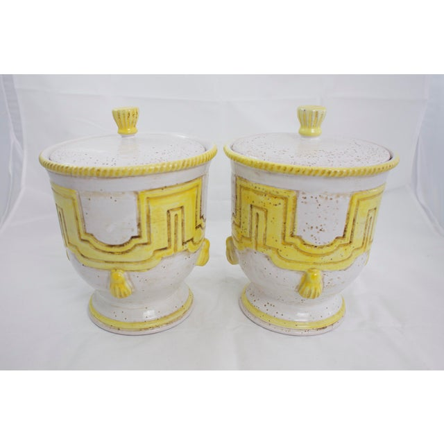 1950s Large 1950s Italian Pottery Jars For Sale - Image 5 of 11