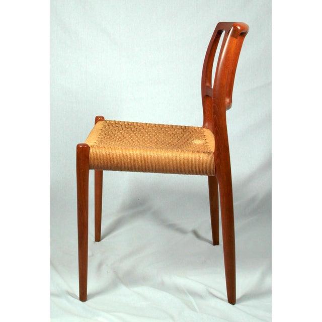 Niels Moller Niels Moller Danish Modern Model No. 83 Teak Dining Chairs - Set of 4 For Sale - Image 4 of 9