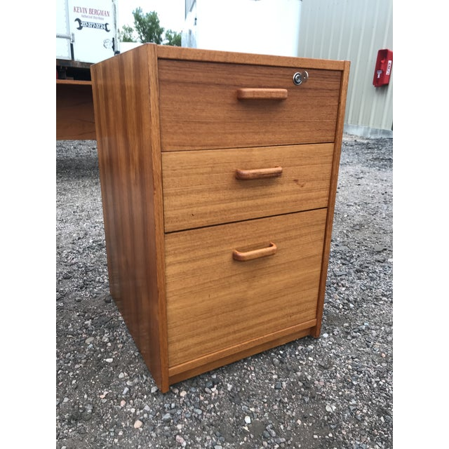 Danish Teak File Cabinet on Casters by Jesper For Sale - Image 11 of 13