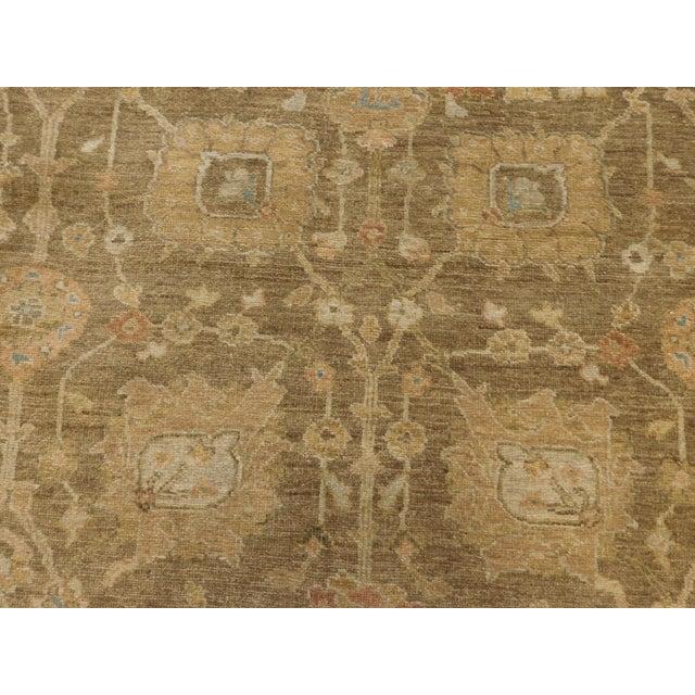 """Hand Knotted Indo-Ushak Floral Design Rug - 8'x 9'8"""" - Image 4 of 10"""