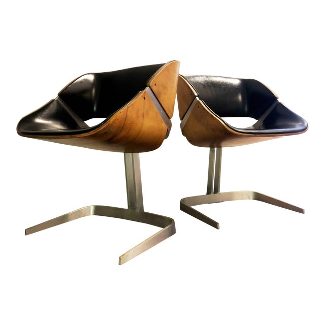 1964 Plycraft Office Chairs - A Pair For Sale