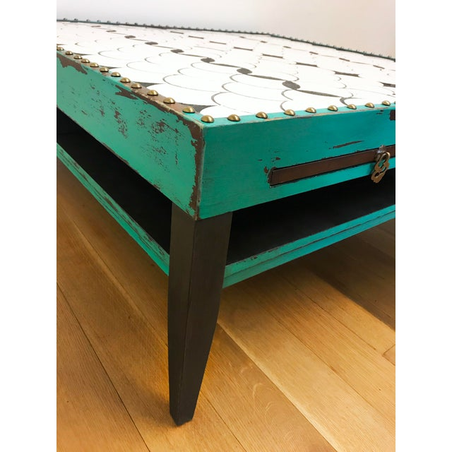 Tile Top Coffee Table For Sale - Image 10 of 13