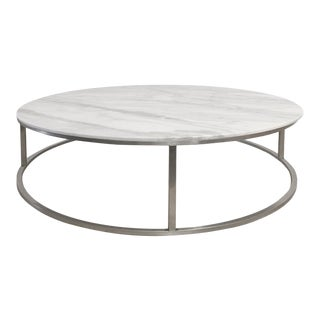 Marble Top Cocktail Table For Sale