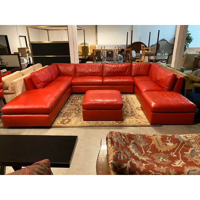 Belmar Custom Design 5-Piece Leather Leipzig Sectional For Sale - Image 12 of 13