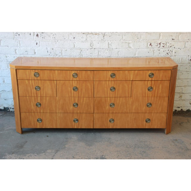 Baker Furniture Company Charles Pfister for Baker Primavera Ten-Drawer Long Dresser For Sale - Image 4 of 11