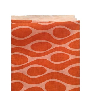Angela Adams Kenga, Hand Printed Linen Fabric - 2 Yards For Sale