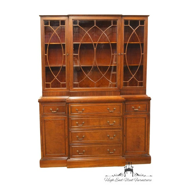 Traditional 1940's Vintage Duncan Phyfe Secretary China Cabinet For Sale - Image 3 of 11