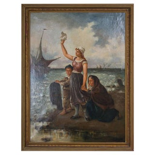19th Century Oil on Canvas After Fernand Marie Eugene Le Gout-Gerard For Sale