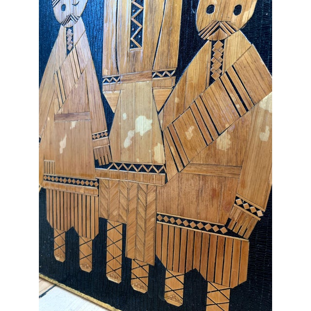 Wood 1960s Vintage Russian Folk Art Wall Plaques- 3 Pieces For Sale - Image 7 of 12
