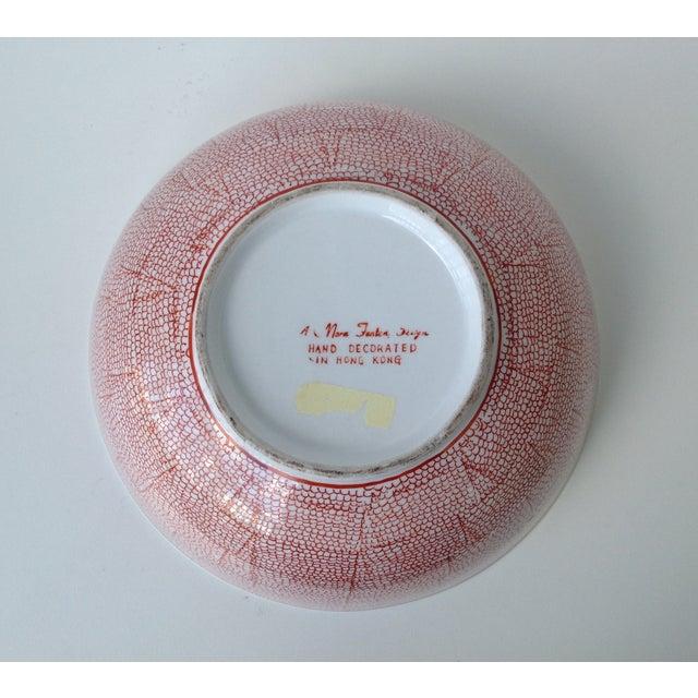 Vintage Asian Hand Decorated Porcelain Bowl For Sale - Image 10 of 11