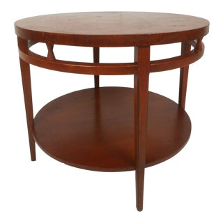 Midcentury Two-Tier Round Table For Sale