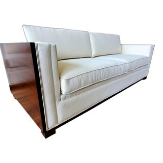 Thomasville Furniture Ernest Hemingway Moncado Mahogany Art Deco Sofa For Sale
