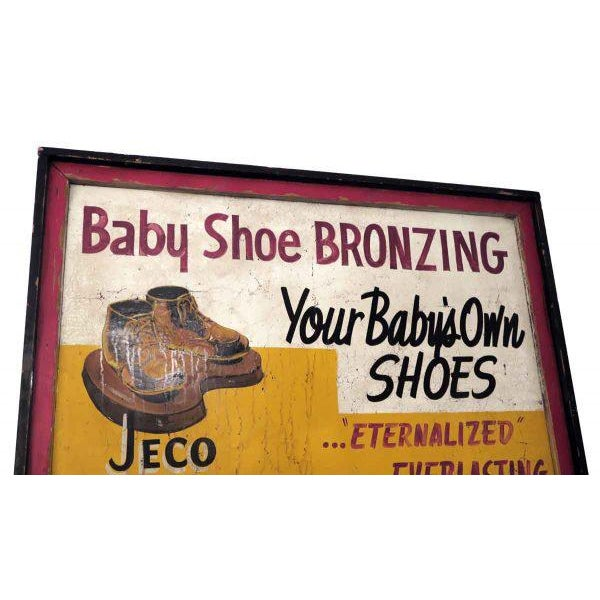Double Sided Baby Shoe Bronzing Sign For Sale - Image 6 of 6