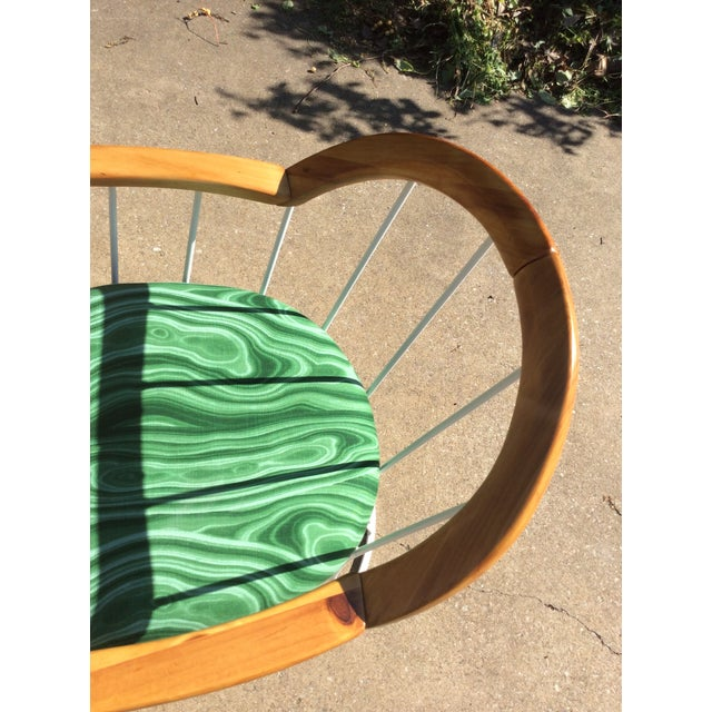 Green Restored Mid-Century Platner Style Round Table & Chairs For Sale - Image 8 of 12