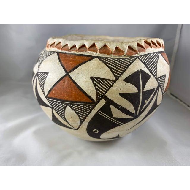 Folk Art Southwestern Acoma Olla Polychrome Pottery For Sale - Image 3 of 11
