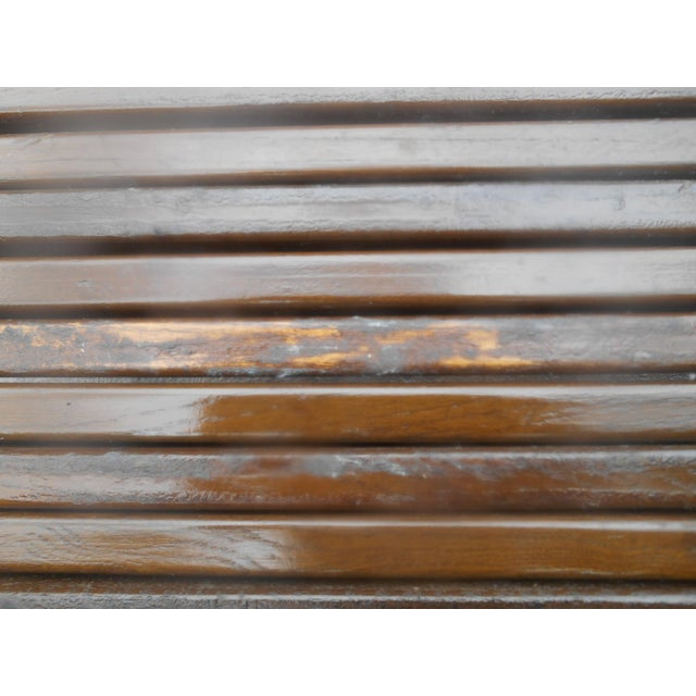 Mid-Century John Keal for Brown-Saltman Expandable Slat Bench For Sale - Image 6 of 8