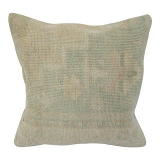 Turkish Handmade Faded Vintage Pillow Cover For Sale
