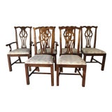 Image of Thomasville Dining Chair Set (6) Fruitwood Excellent For Sale