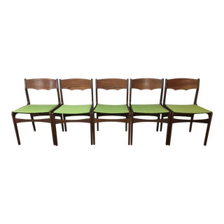 Grete Jalk Style Rosewood Dining Chairs - Set of 5
