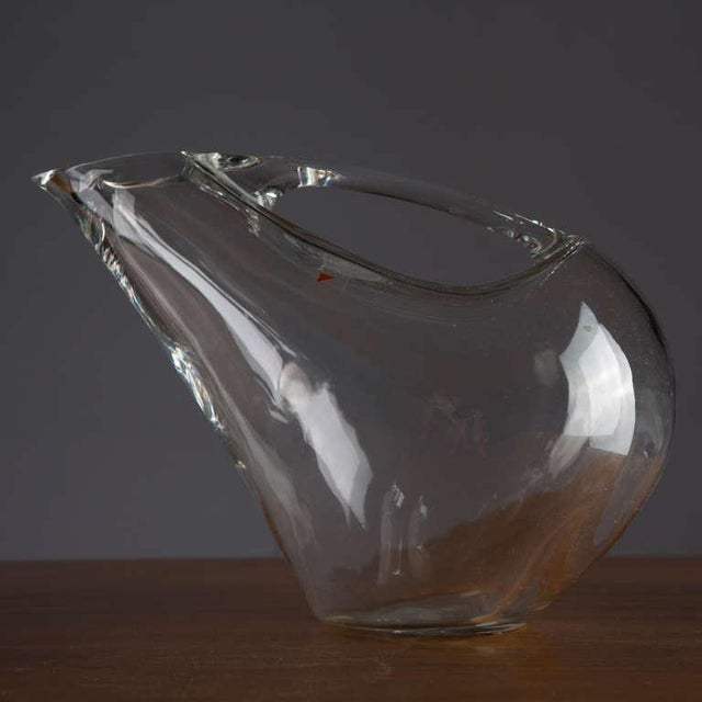Crystal Crystal Pitcher and Glasses by Angelo Mangiarotti For Sale - Image 7 of 9