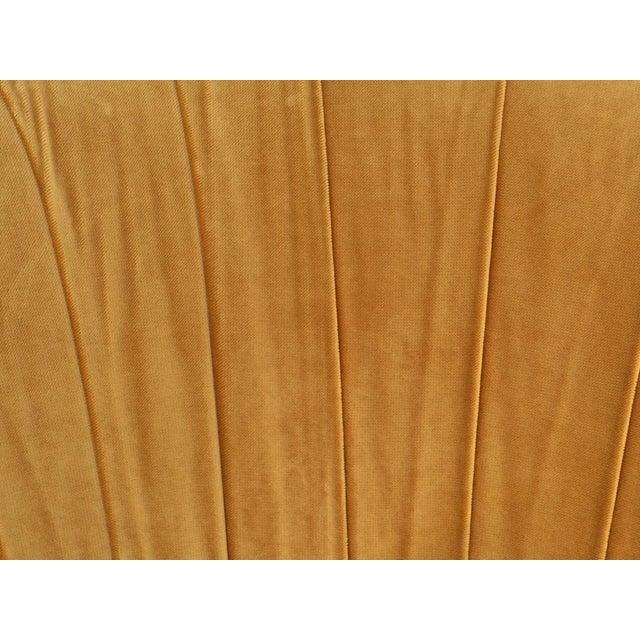 Hollywood Regency Gold Velvet W Chair - Image 4 of 6