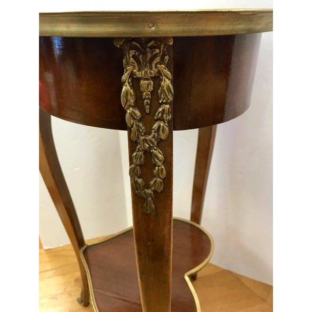 Italian 1950s Italian Marquetry Inlaid Heart Shaped End Table For Sale - Image 3 of 12