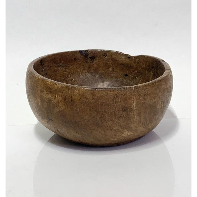 19th Century 19th Century Hand Carved Burl Wood Bowl For Sale - Image 5 of 9