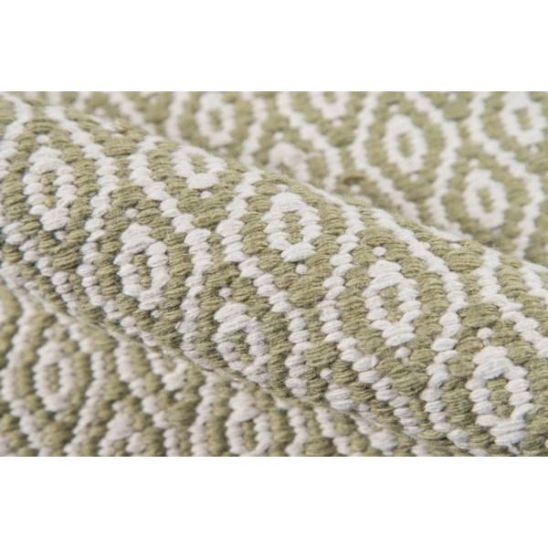 """Erin Gates Newton Davis Green Hand Woven Recycled Plastic Runner 2'3"""" X 8' For Sale - Image 4 of 5"""