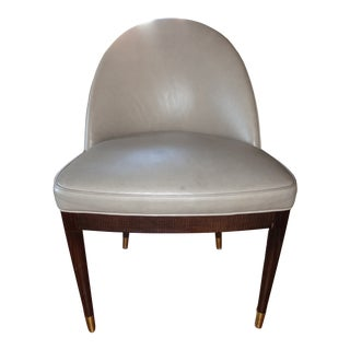 Suzanne Kasler for Hickory Chair Leather Laurent Chair For Sale