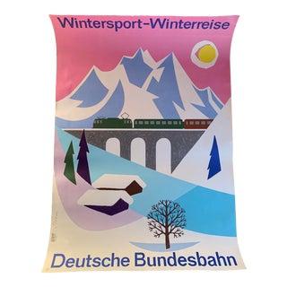 1950s Winter Ski Travel Poster, Germany For Sale