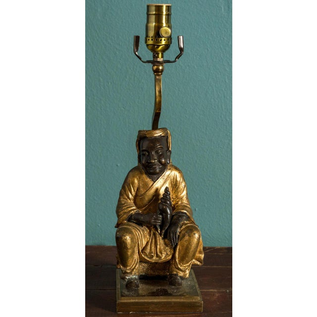 1920s Bronze Figural Table Lamp For Sale - Image 5 of 5
