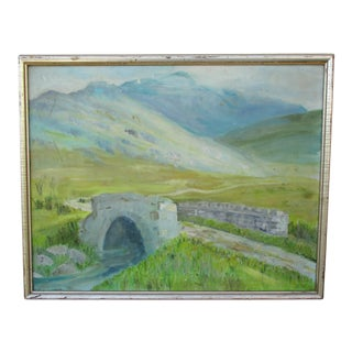 Old Stone Bridge Oil Painting For Sale