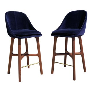 De La Espada Counter Stools - a Pair For Sale