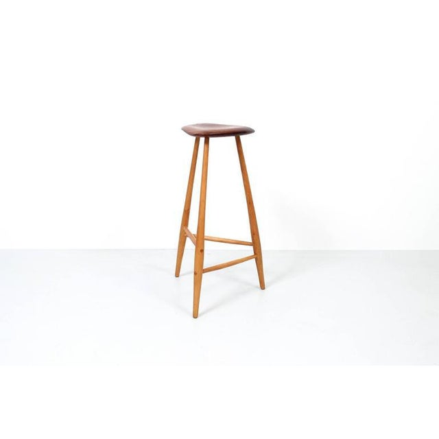 Studio furniture barstool by Horace B. Hartshaw. Hartshaw was Wharton Esherick's studio assistant. This stool is identical...