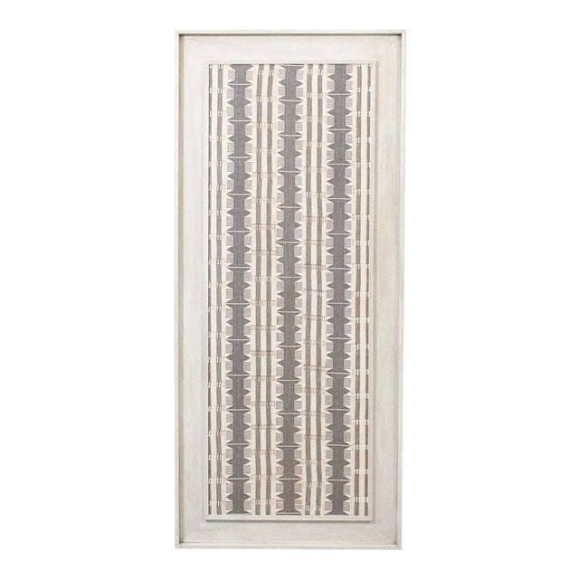 1970s Framed Modernist Textile For Sale - Image 13 of 13