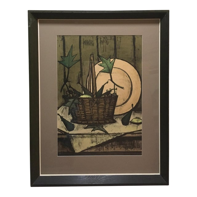 Mid-Century Buffet Framed Print For Sale