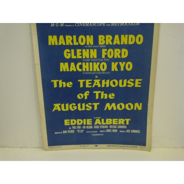 "Vintage ""The Teahouse of the August Moon"" Movie Poster For Sale - Image 4 of 6"