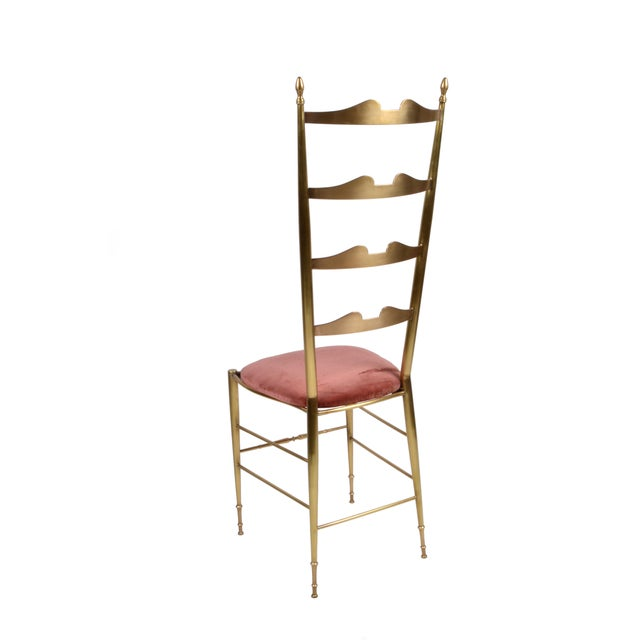 Italian Chiavari Bronze High Back Chairs, a Pair For Sale In Miami - Image 6 of 12