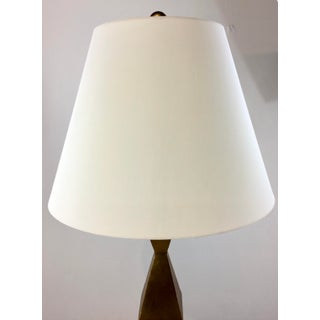 Currey & Co. Modern Gold and White Picasso Floor Lamp Preview