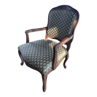 Classic Victorian Style Accent Chair For Sale
